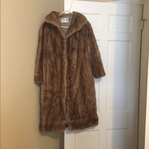 Jackets & Blazers - Vintage Real Long Mink Coat